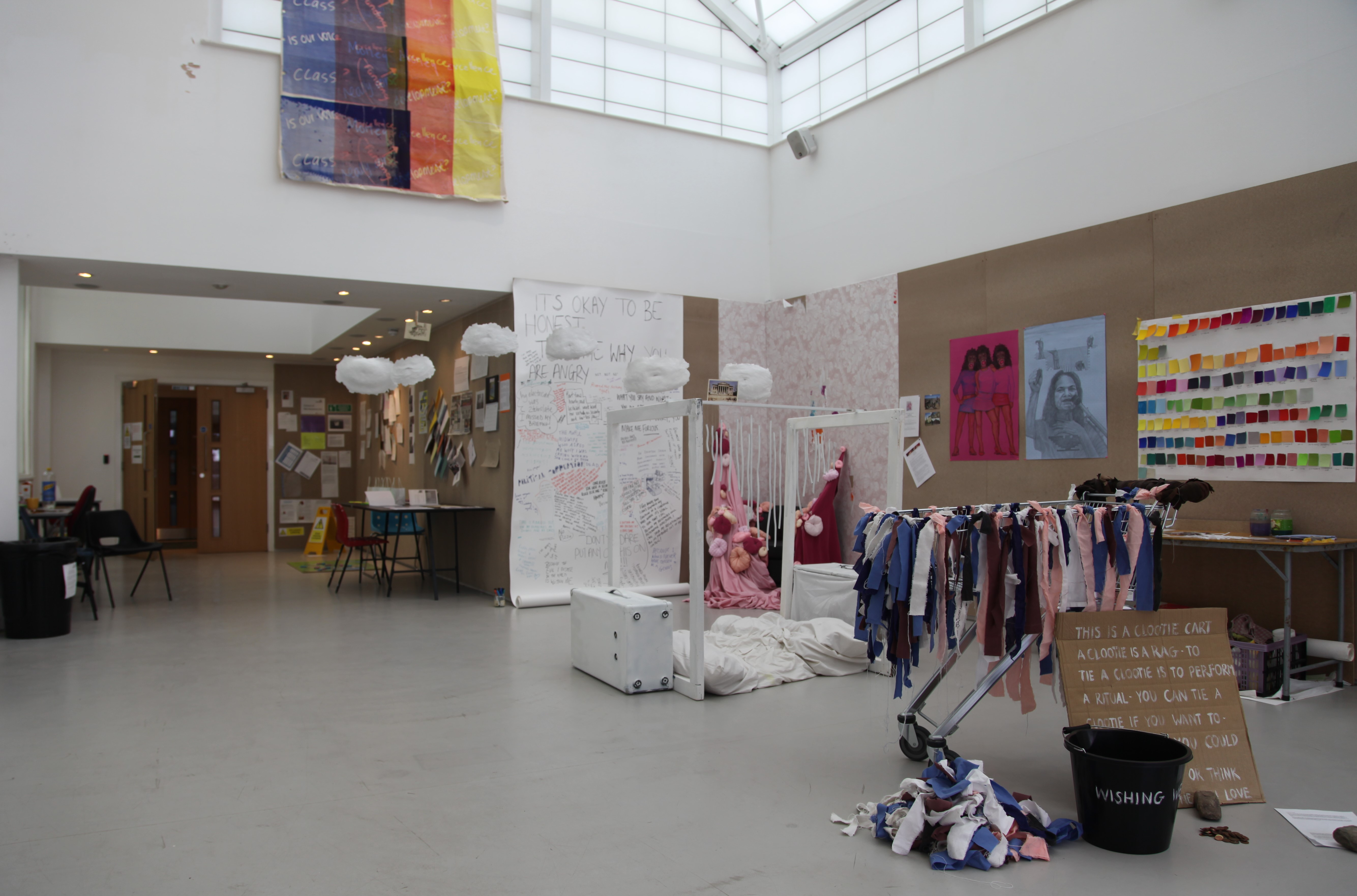 Installation view. Messy Democracy at the Hanover Project, University of Central Lancashire