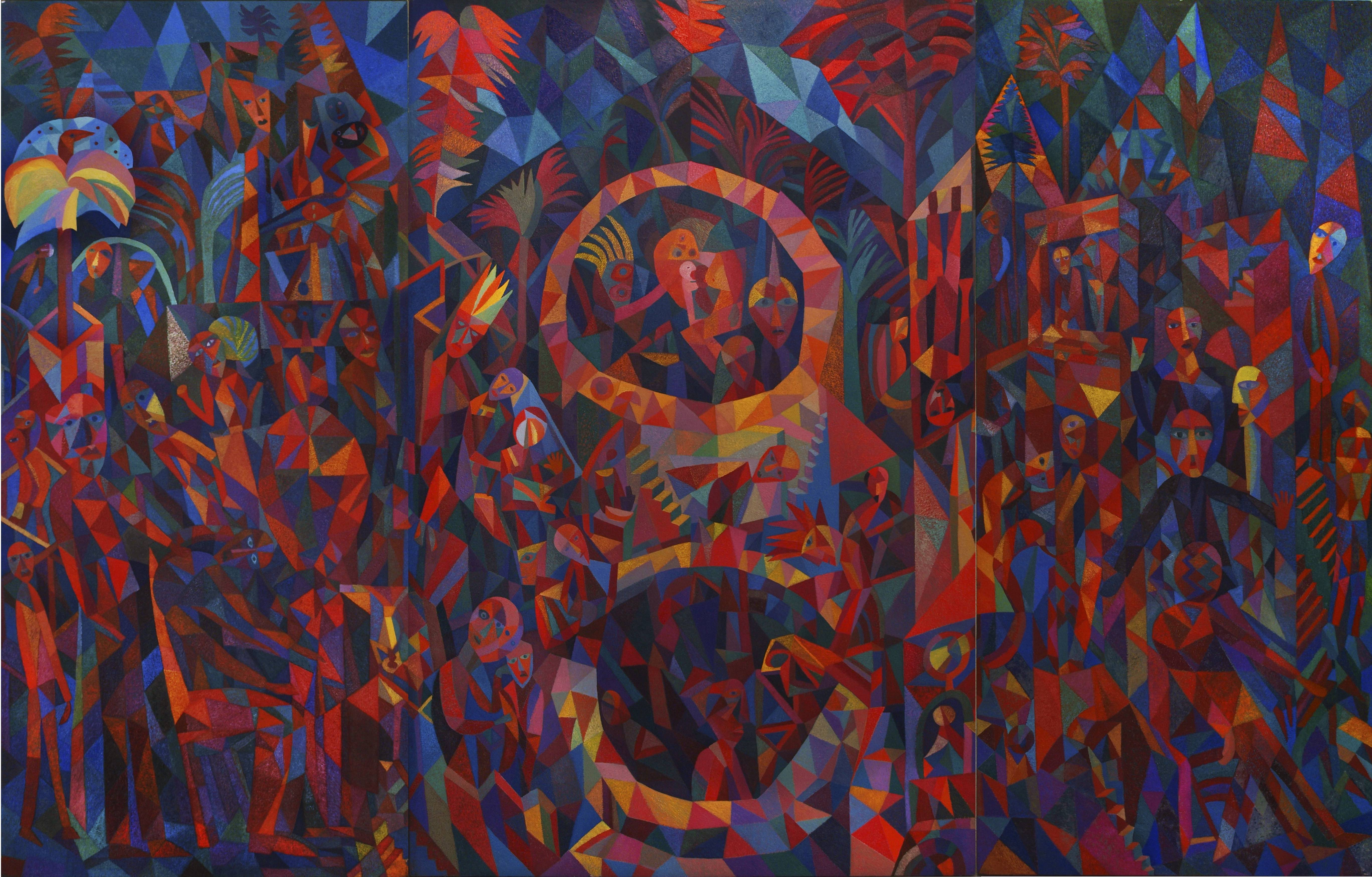 The Tempest, c.1995, Dave Pearson. Dave Pearson: Return to Byzantium at The Turnpike, Leigh (Greater Manchester)
