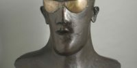 Elisabeth Frink-Goggle Head- © Frink Estate and Archive executors. Courtesy of The Ingram Collection, Image © JP Bland 2016. Fragility and Power at Abbot Hall Art Gallery, Kendal, Cumbria
